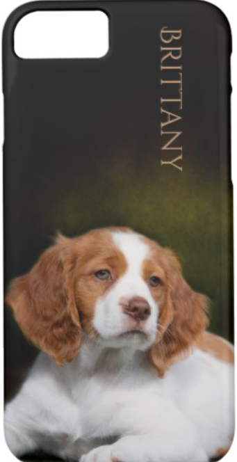 Brittany Spaniel ppuppy phone case