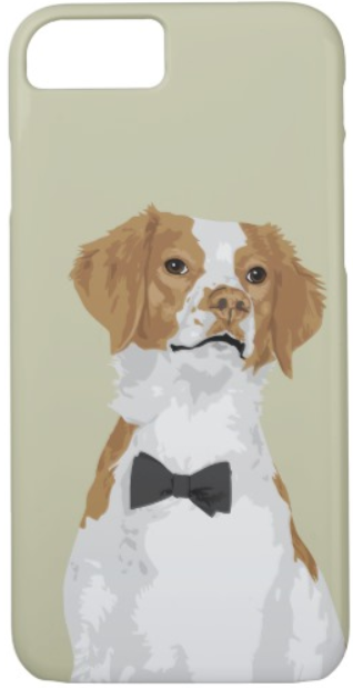 Brittany dog iPhone case