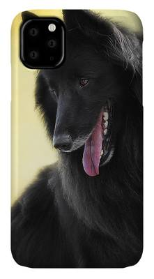 Belgian Groenendael phone case Wolf Shadow Photography