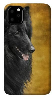 Belgian Groenendael phone case Wolf Shadow Photography