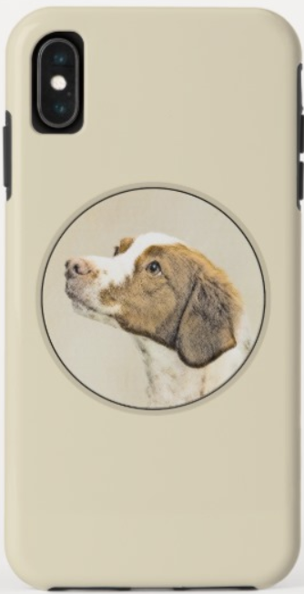 Brittany head shot phone case