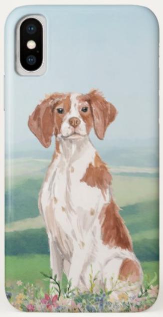 Brittany spaniel phone case