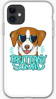 Brittany Spaniel cartoon phone case