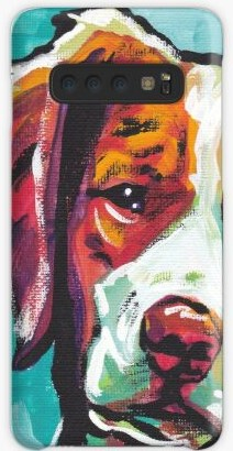 Brittany Spaniel painting phone case