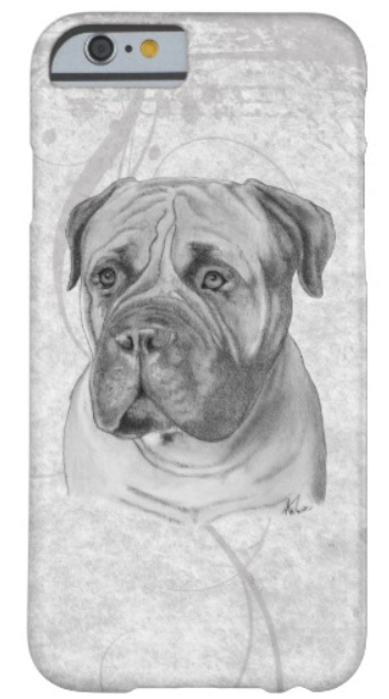 Bullmastiff portrait phone case