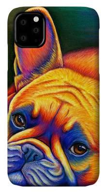 French Bulldog Phone case by Rebecca Wang