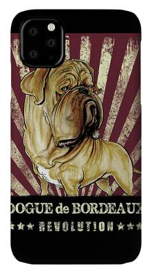 Dogue de Bordeaux phone case by John Lafree