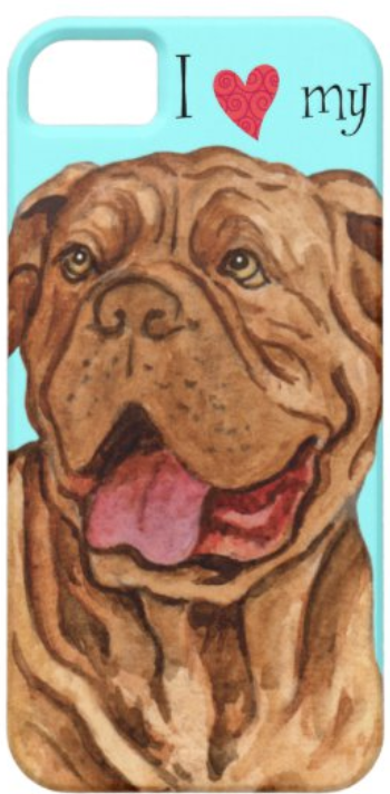 Dogue de Bordeaux Love phone case