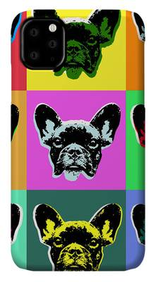 French Bulldog iPhone case by Jean Luc Comperat