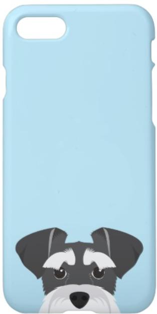miniature schnauzer cartoon phone case