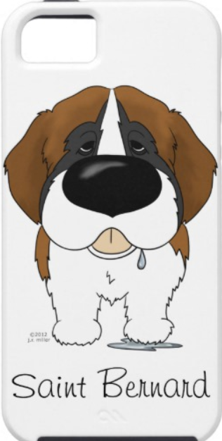 St Bernard Cartoon iPhone Case