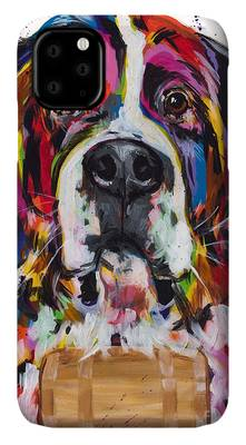St Bernard phone case by Tracy Miller