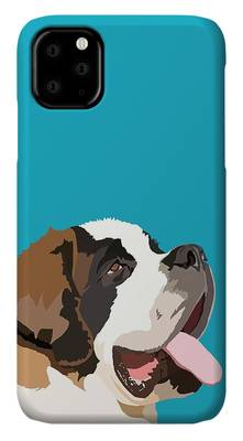 St Bernard phone case by Tracy Stone