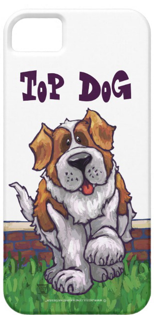 St Bernard Cartoon Phone Case