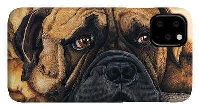 Waiting Bullmastiff by Michelle Wrighton