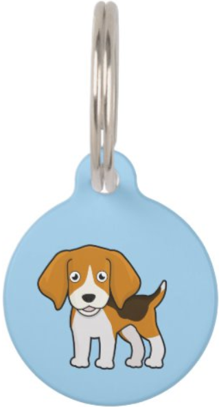 Beagle dog id tag