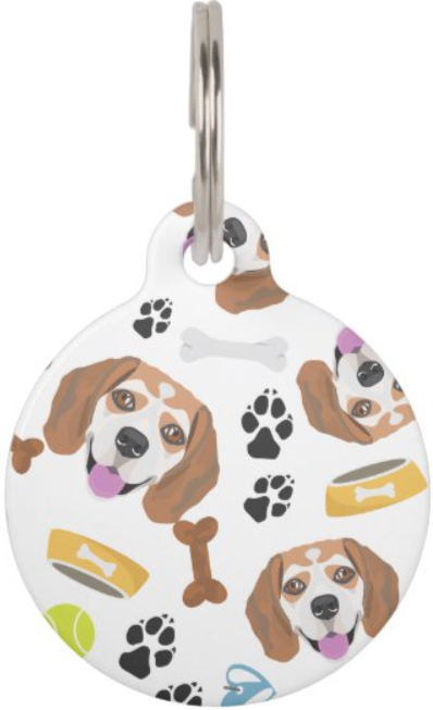 Beagle dog tag