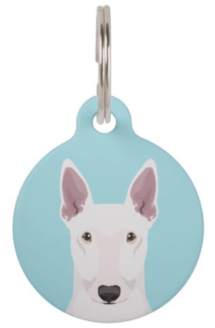 Bull terrier pet ID tag