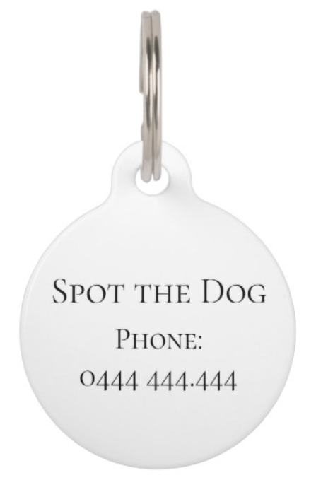 customizeable dog tag