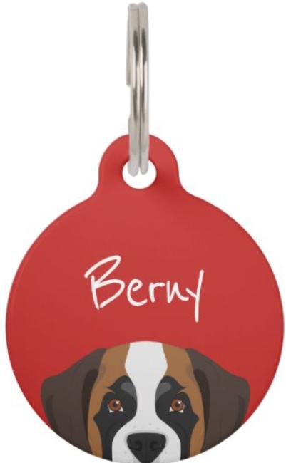 St Bernard ID tag