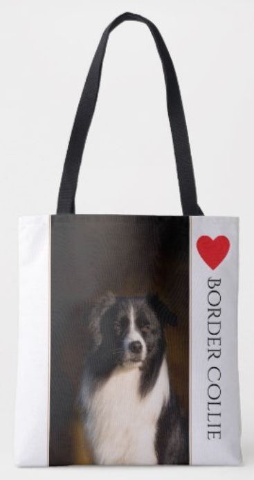 Border Collie lover's tote