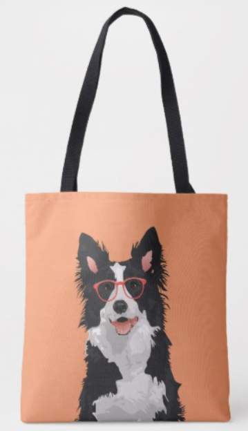 Border Collie Hipster Tote