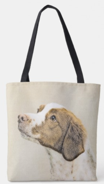 Brittany painting tote