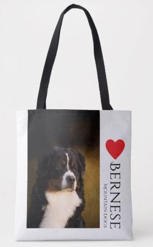 Bernese Mountain Dog lover tote bag