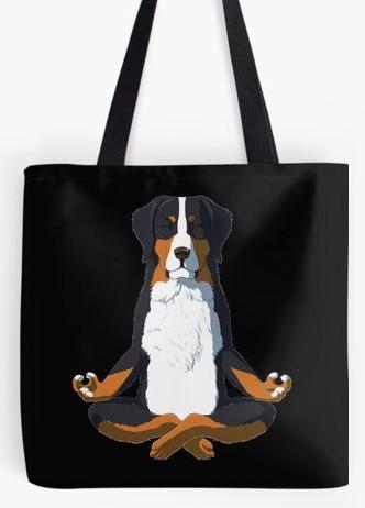 Bernese Mountain Dog artist tote bag