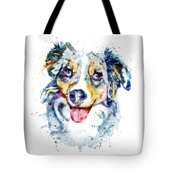 Border Collie tote by Marian Voicu