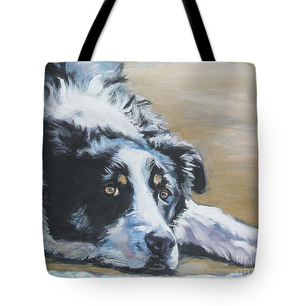 Border Collie tote bag by Lee Ann Shepard