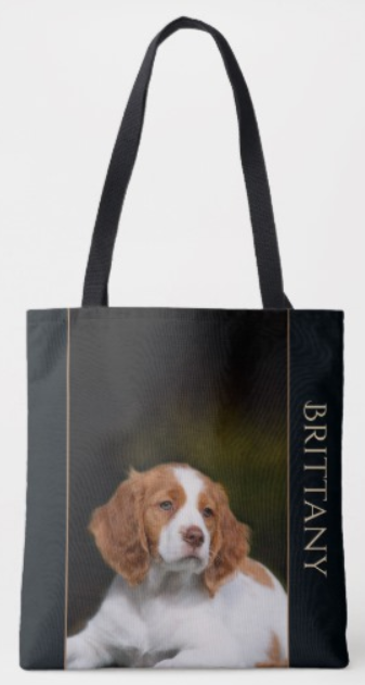 Brittany puppy tote