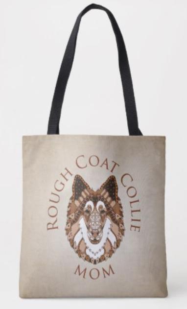 Rough Collie Mom tote bag