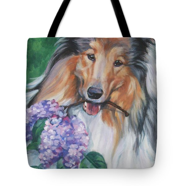 Collie With Lilacs by Lee Ann Shepard