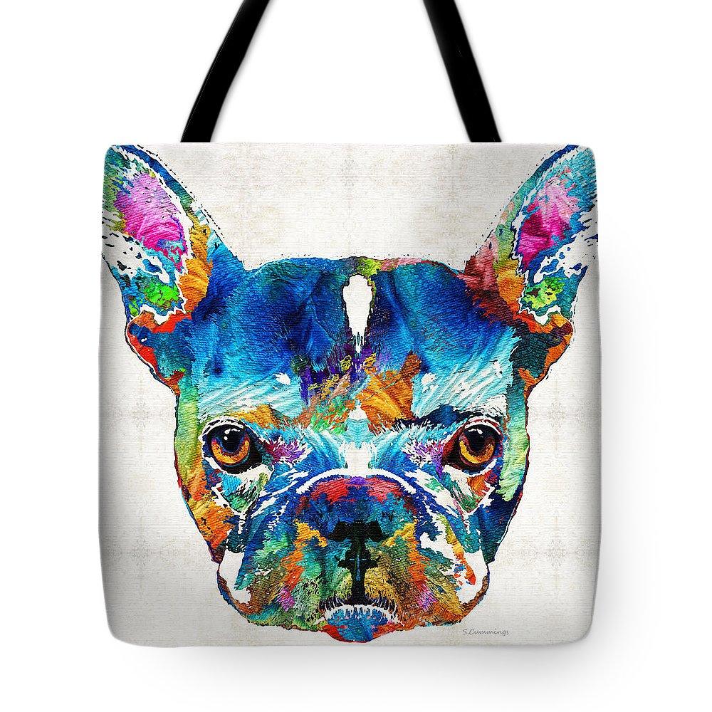 French Bulldog tote bag by Sharon Cummings