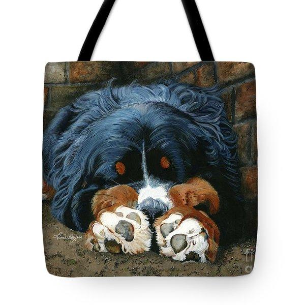 Bernese Mountain Dog tote bag by Liane Weyers