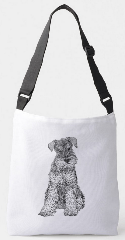 Miniature Schnauzer illustration tote bag