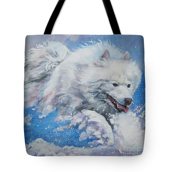Samoyed tote bag by Lee Ann Shepard