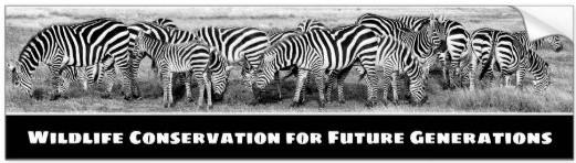 Wildlife conservation bumper sticker