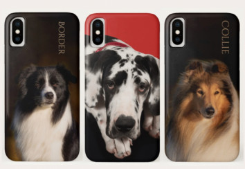 Custom dog breed phone cases.