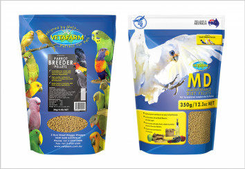 Pelleted bird diets
