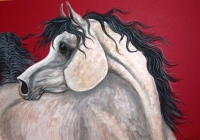 Equine Paintings and Sculpture by Aislinn Brander