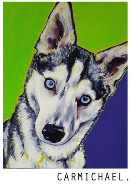 Pet Portraits from Susie Carmichael of Lazy Dog Art