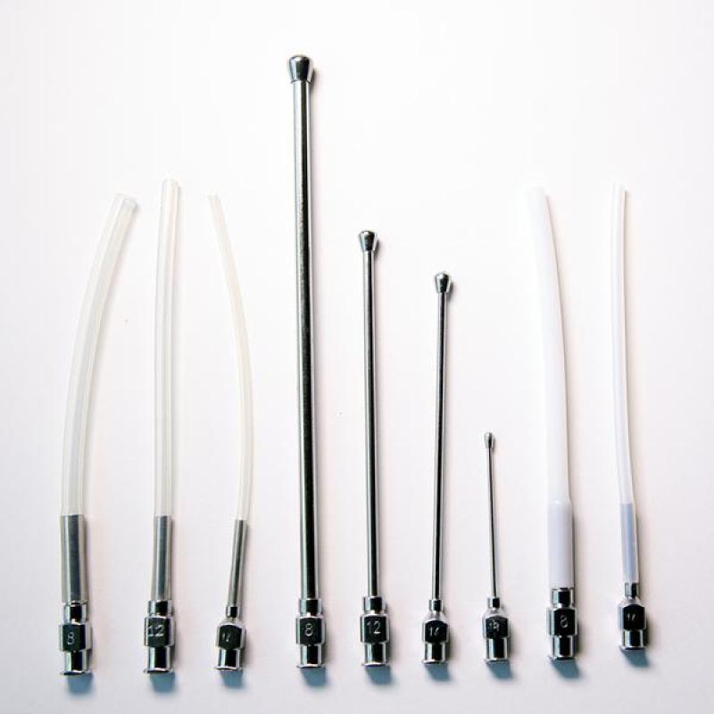Crop Needle (straight) and Feeding Tube Set