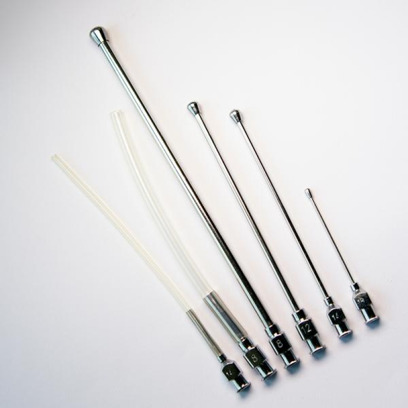 Crop Needle (straight) and Silicon Feeding Tube Set