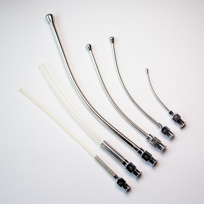 Crop Needle (curved) and Silicon Feeding Tube Set