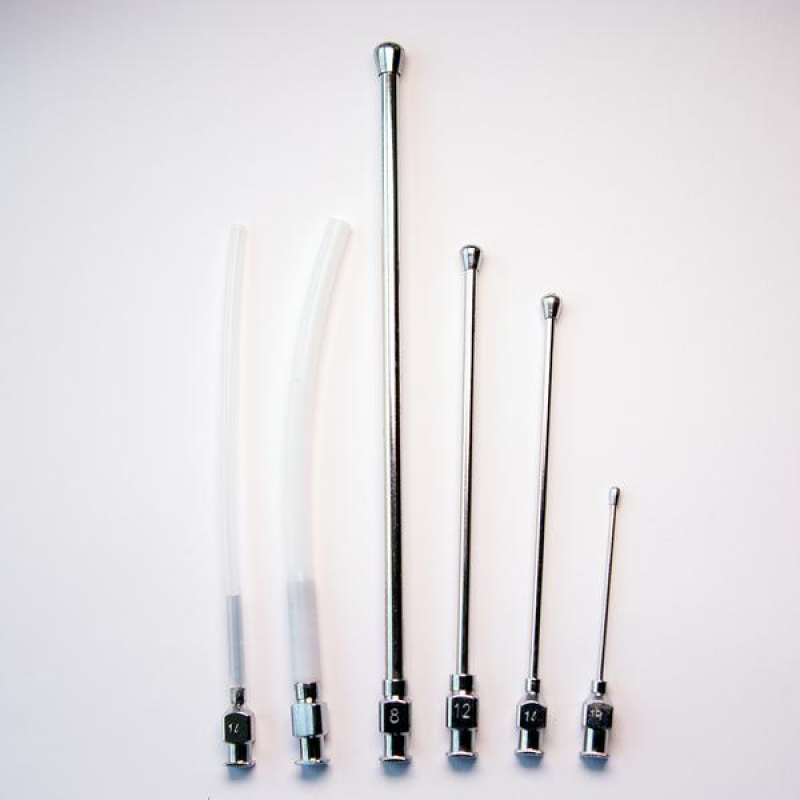 Crop Needle (straight) and Teflon Feeding Tube Set