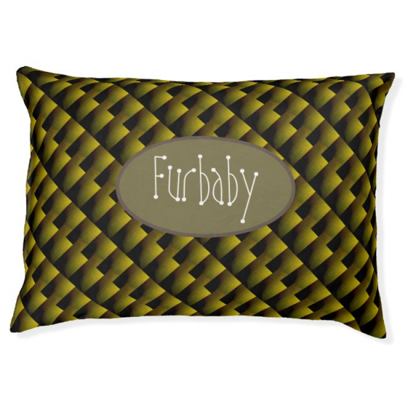 Green and Gold Patterned Personalised Pet Products