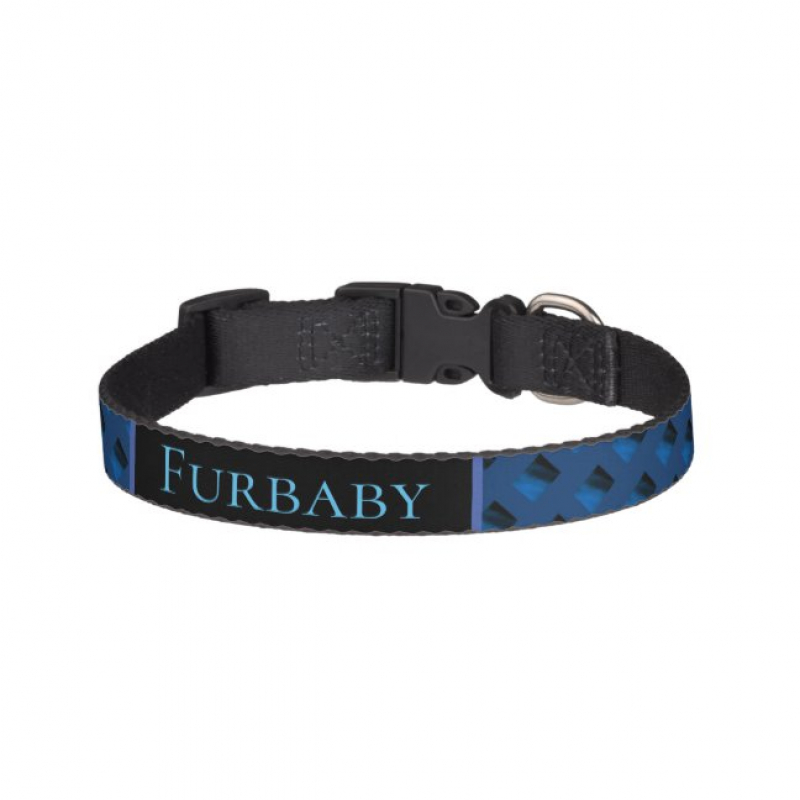 Blue Patterned Personalised Pet Set