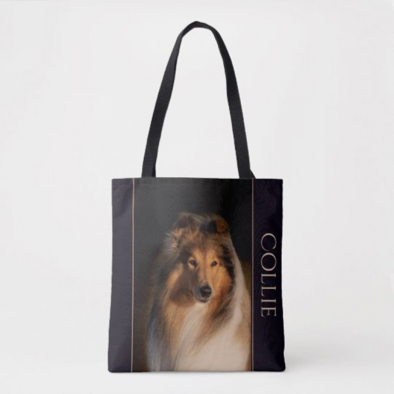 Collie Rough Tote Bag